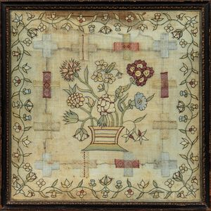 Floral Needlework Sampler