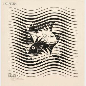 M. C. Escher (Dutch, 1898-1972)      Fish