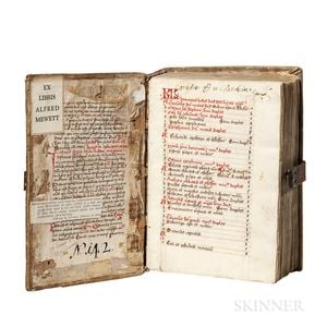 Breviary for Augustinian Use, Latin Text Manuscript on Paper, 15th Century.