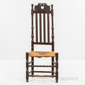 Heart-and-crown Bannister-back Side Chair