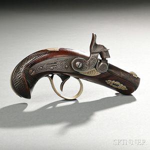 Short Barrel Philadelphia Deringer Pistol