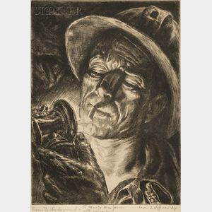 Irwin D. Hoffman (American, 1901-1989)      Cigarette Underground.