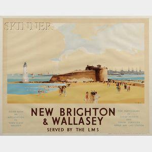 Claude Buckle (British, 1905-c. 1973)      New Brighton & Wallasey.