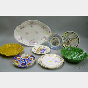 Group of Assorted Decorated Ceramic Tableware