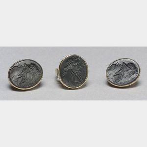 Two Wedgwood Black Basalt Jewelry Items