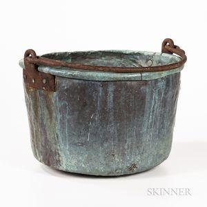 Large Copper Cooking Cauldron