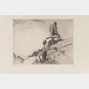Frank Weston Benson (American, 1862-1951)    Hunters
