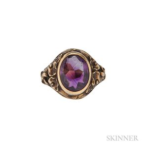 14kt Gold and Amethyst Ring, Tiffany & Co.