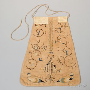 Embroidered Linen Pocket