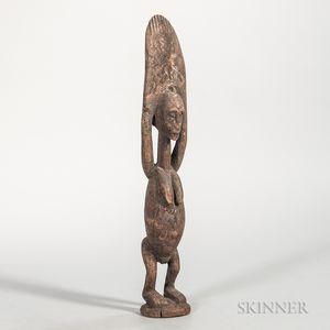 Dogon-style Carved Wood Fertility Figure