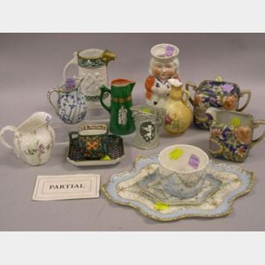 Twenty-eight Assorted European Decorated Porcelain Table Items