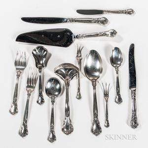 "Gorham ""Chantilly"" Pattern Sterling Silver Flatware Service"