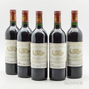 Chateau Margaux 1986, 5 bottles