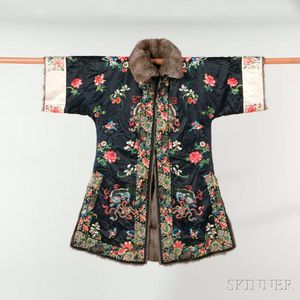Embroidered and Fur-lined Winter Surcoat