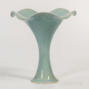 Kawase Shinobu (b. 1950) Celadon Vase