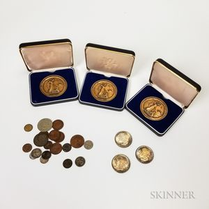 Group of American and World Coins, Tokens, and Medals