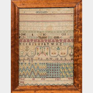 "Needlework ""Ann Kelsell"" Needlework Sampler"