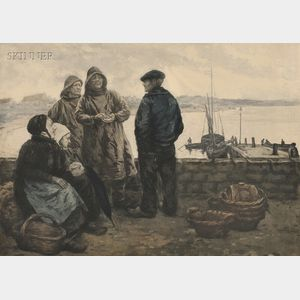 Manuel Robbe (French, 1872-1936)      Les Coups de mer.