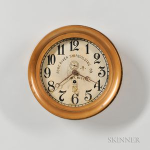 Fore River Shipbuilding Co. Wall Clock
