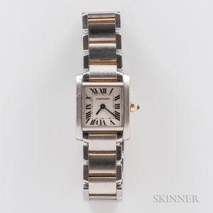 "Cartier ""Tank Francaise"" Two-tone Wristwatch"