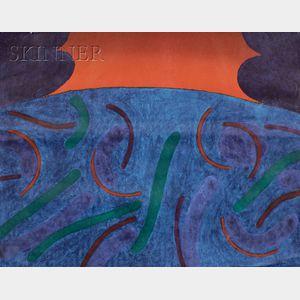 Carol Summers (American, b. 1925)      Sunset at Sea