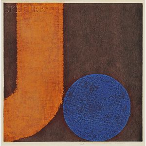 Natvar Bhavsar (Indian, b. 1934)      Blue Accent