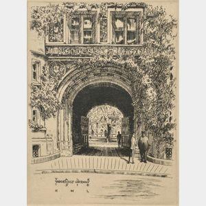 Huc-Mazelet Luquiens (American, 1881-1961)      Yale, Vanderbilt Gateway