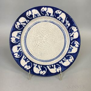 Dedham Pottery Elephant Bread Plate
