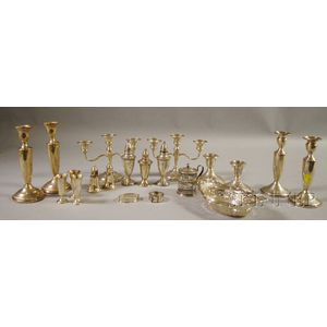 Group of Sterling Silver and Weighted Sterling Silver Tableware