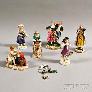 Six German Porcelain Figures