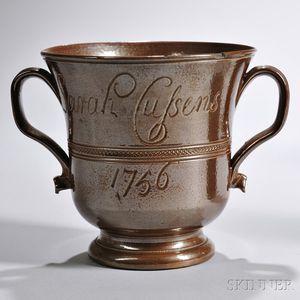 Nottinghamshire Brown Salt-glazed Stoneware Loving Cup