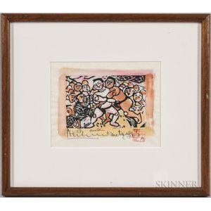 Shiko Munakata (1903-1975) Woodblock Print