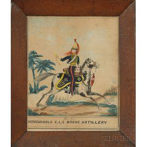 Anglo School, 19th Century      HONOURABLE E,I,C HORSE ARTILLERY