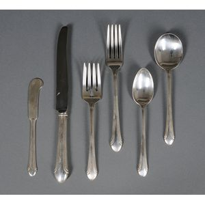 Alvin Partial Sterling Silver Flatware Set for Eight