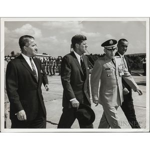 Kennedy, John Fitzgerald, Saturn C-1, September 11, 1962, Two Photographs.