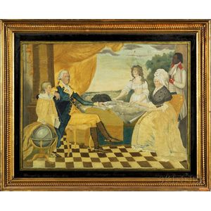 Needlework Picture:  The Washington Family.