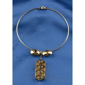 18kt Gold and Gem-set Necklace