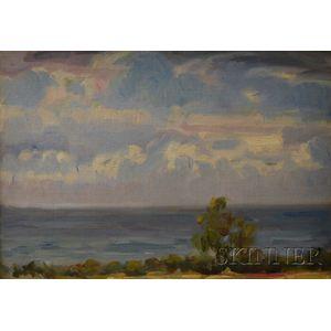 Attributed to Sigismund de Ivanowski  (American, 1875-1944)      Coastal View in Summer