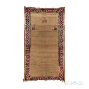 Northwest Persian Kilim and Pile Prayer Rug