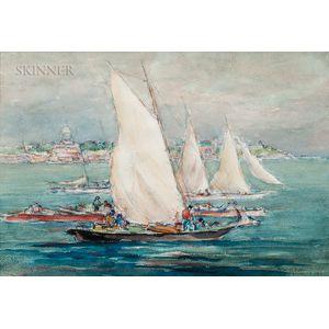 Reynolds Beal (American, 1867-1951)      Annapolis, 1924