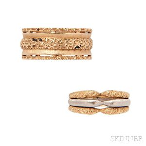 Two 18kt Gold Rings, Federico Buccellati