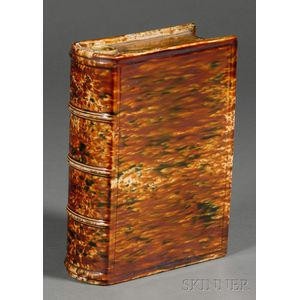 Large Bennington Flint Enamel Book Flask