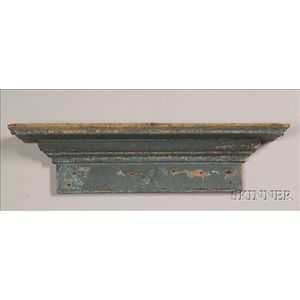Blue Painted Pine Shelf
