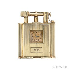 14kt Gold Swing-arm Lighter Watch, Dunhill