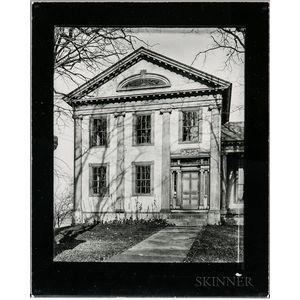 Walker Evans (American, 1903-1975)       Greek Revival House with Half-Lunette Window in Full-Façade Gable, Cherry Valley, New York