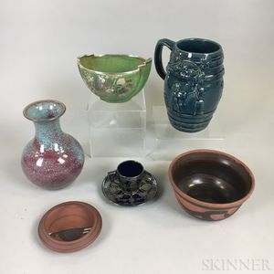 Seven American Ceramic Items
