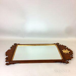 Williamsburg Restoration Queen Anne-style Carved and Parcel-gilt Mirror
