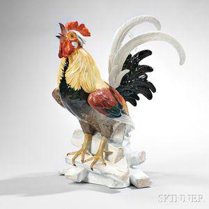Meissen Porcelain Figure of a Rooster
