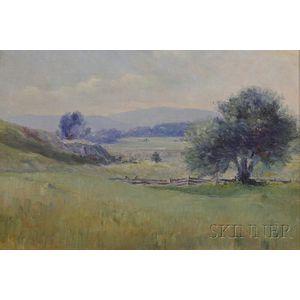 Martha A. Hayes Safford (American, 1850-1912)      Piermont, New Hampshire Scene 1910