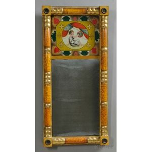 Paint-decorated and Gilt Split-baluster Mirror